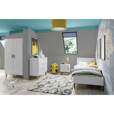 Biały zestaw mebli do pokoju dziecięcego Maurycy