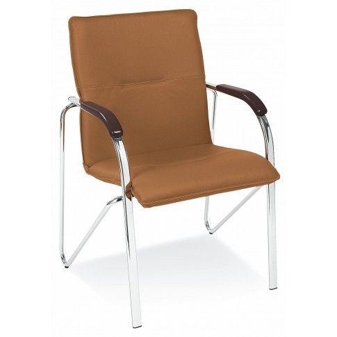 Zdjęcie produktu Krzesło biurowe Gardis - brązowe.