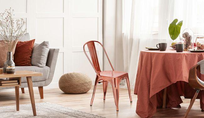 Komfortowe krzesło Keby - miedziane