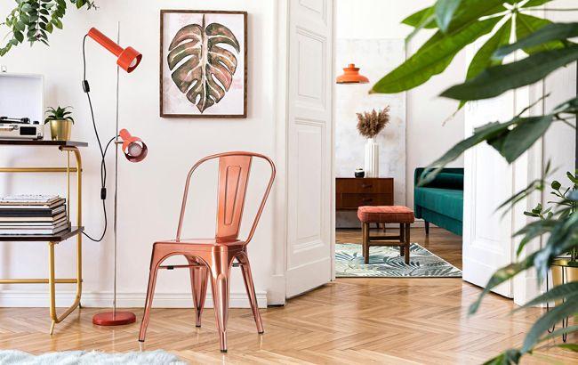 Miedziane krzesło Keby - do salonu