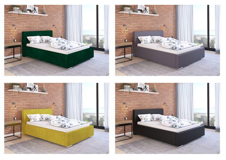 Wybrana kolorystyka tapicerowanego łóżka Eger