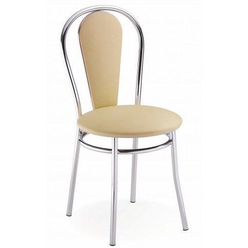 Zdjęcie produktu Krzesło tapicerowane Crafti - beżowe.