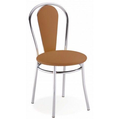 Zdjęcie produktu Krzesło tapicerowane Crafti - brąz.