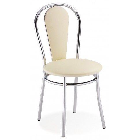 Zdjęcie produktu Krzesło tapicerowane Crafti - kremowe.