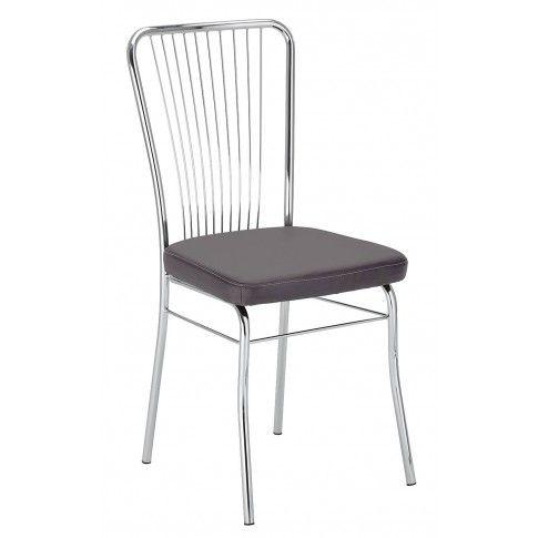 Zdjęcie produktu Krzesło metalowe Neris - ciemny brąz.