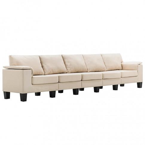 5 osobowa sofa ekilore5q kremowa