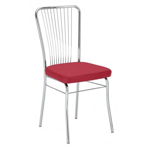Zdjęcie produktu Krzesło metalowe Neris - czerwone.