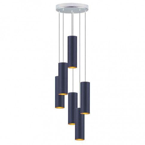 Lampa wisząca z sześcioma regulowanymi zwisami EX344-Monakes