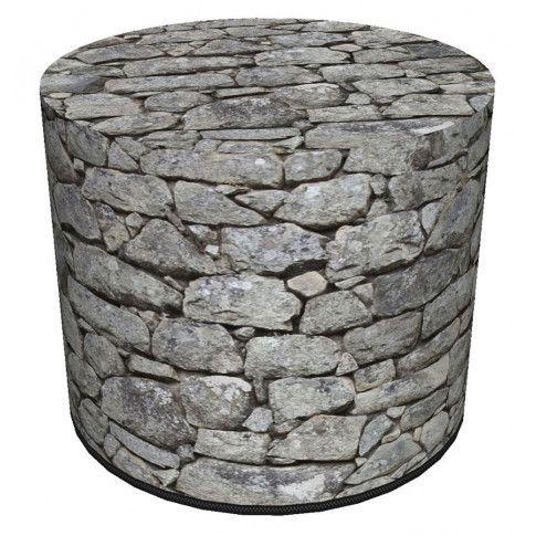 Okrągła pufa imitująca kamień Loris