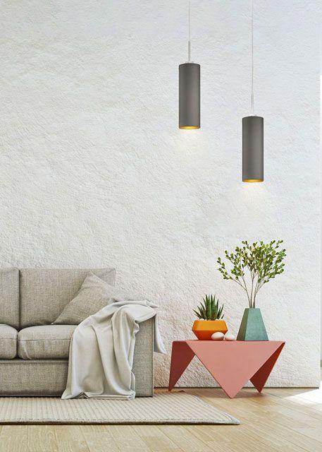 Regulowana lampa wisząca EX373-Madero nad stół z abażurami w formie walca