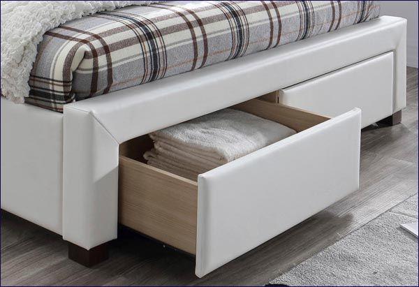 Białe łóżko Moris 2X 160x200