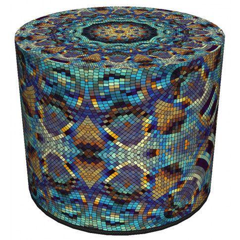Kolorowa ozdobna pufa do salonu Adelos 9X