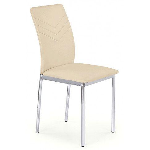 Zdjęcie produktu Krzesło metalowe Lincoln - beżowe.