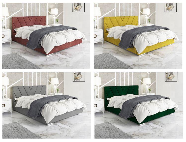 Przykładowa kolorystyka tapicerowanego łóżka Orina