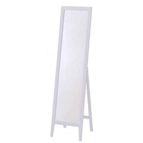 Zdjęcie produktu Drewniane lustro stojące Regis - białe.