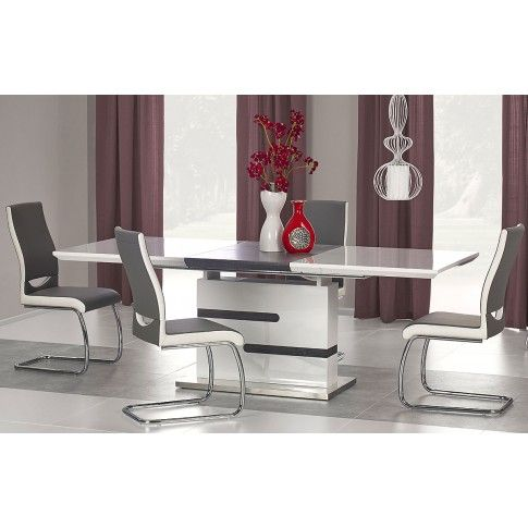 Zdjęcie produktu Stół rozkładany Venus - biały + popiel.