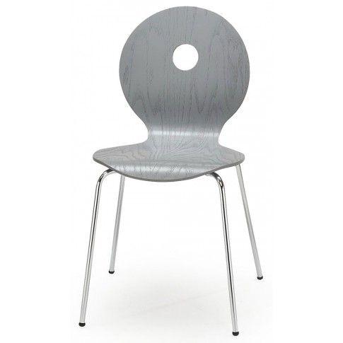 Zdjęcie produktu Profilowane krzesło Famis - popielate.