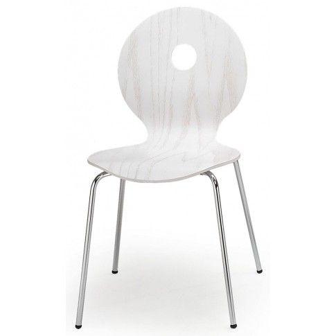 Zdjęcie produktu Profilowane krzesło Famis - białe.