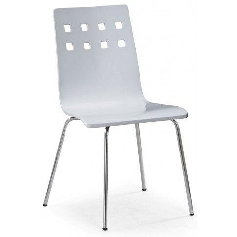 Zdjęcie produktu Metalowe krzesło Tridin - białe.