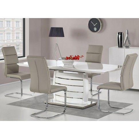 Zdjęcie produktu Stół rozkładany Doren - biały połysk.