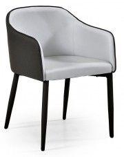 Tapicerowane krzesło Anter - popielate w sklepie Edinos.pl