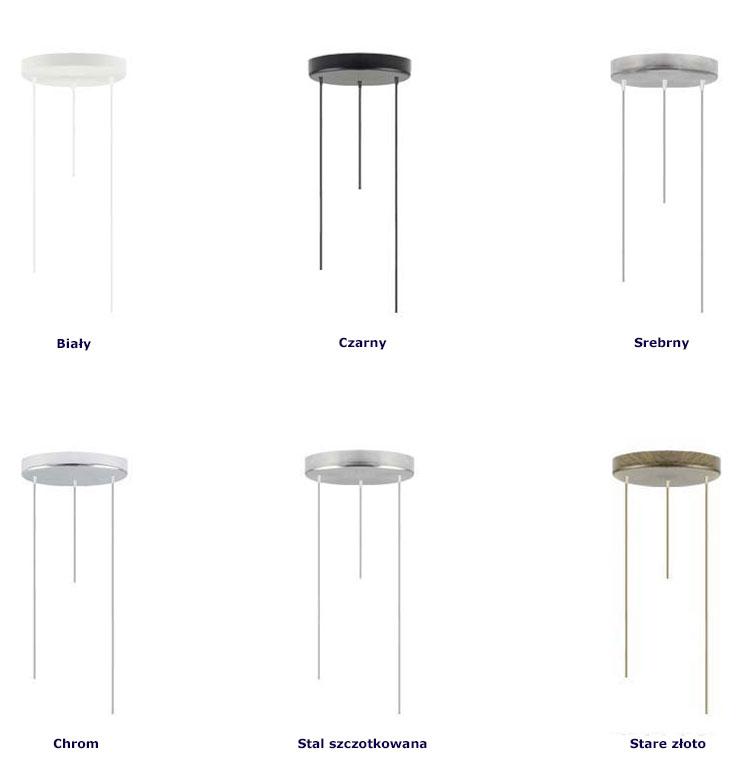 Regulowana lampa wisząca EX442-Pueblis z trzema okrągłymi abażurami
