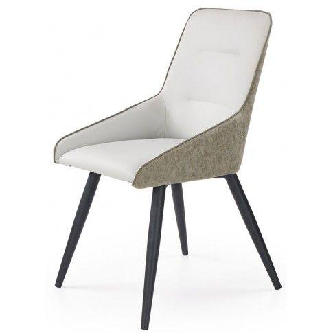 Zdjęcie produktu Tapicerowane krzesło Ormer - popiel + beton.