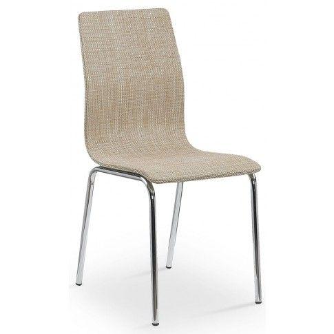 Zdjęcie produktu Metalowe krzesło Minger - beżowe.