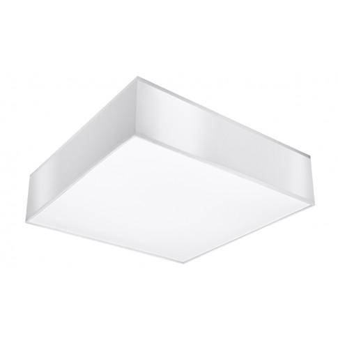 Biały kwadratowy plafon EX508-Horux