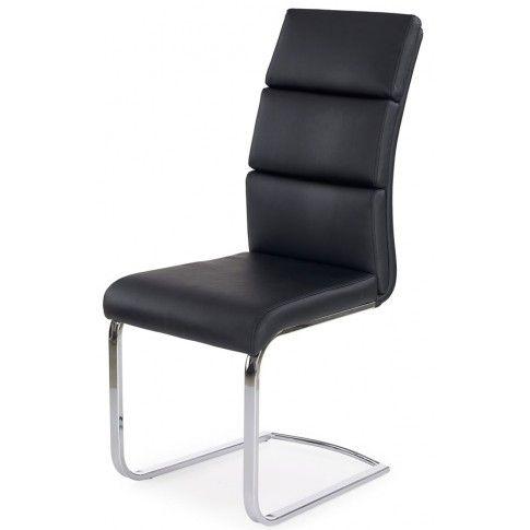 Zdjęcie produktu Tapicerowane krzesło Olvin - czarne.