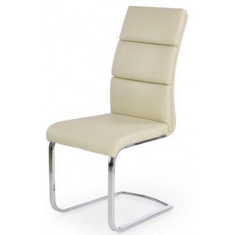 Zdjęcie produktu Tapicerowane krzesło Olvin - kremowe.