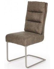 Krzesło z miękkim oparciem Helit - popielate w sklepie Edinos.pl