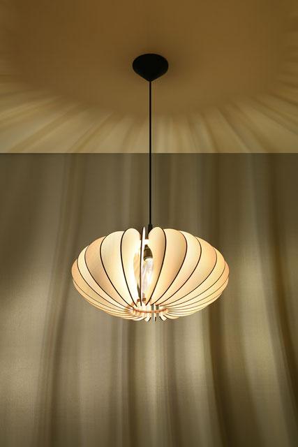 Drewniana lampa wisząca EX567-Sophix w stylu skandynawskim