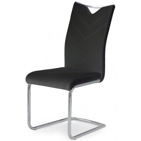 Zdjęcie produktu Minimalistyczne krzesło Eldor - czarne.