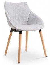 Skandynawskie krzesło Errol - popielate w sklepie Edinos.pl