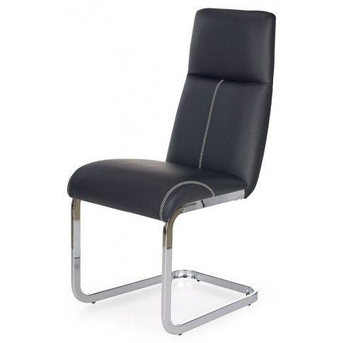 Zdjęcie produktu Tapicerowane krzesło Dexor - czarne.