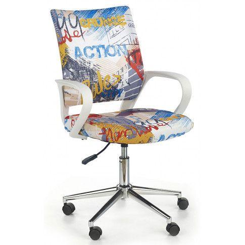 Zdjęcie produktu Fotel młodzieżowy Ator - biały w graffiti.