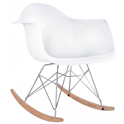 Biały fotel na płozach Lamario
