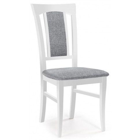 Zdjęcie produktu Krzesło drewniane tapicerowane Rumer - biały.