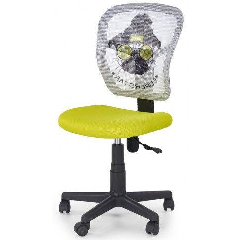 Zdjęcie produktu Dziecięcy fotel obrotowy Cziko - zielony z psem.