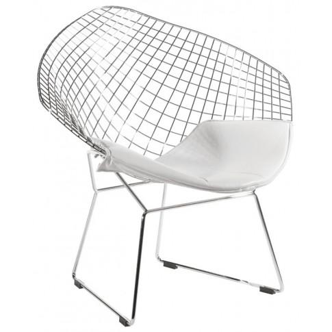 Metalowy fotel Krato