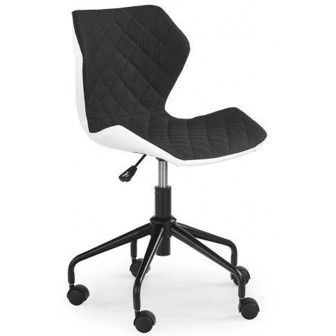 Zdjęcie produktu Pikowany fotel obrotowy Kartex - czarny.