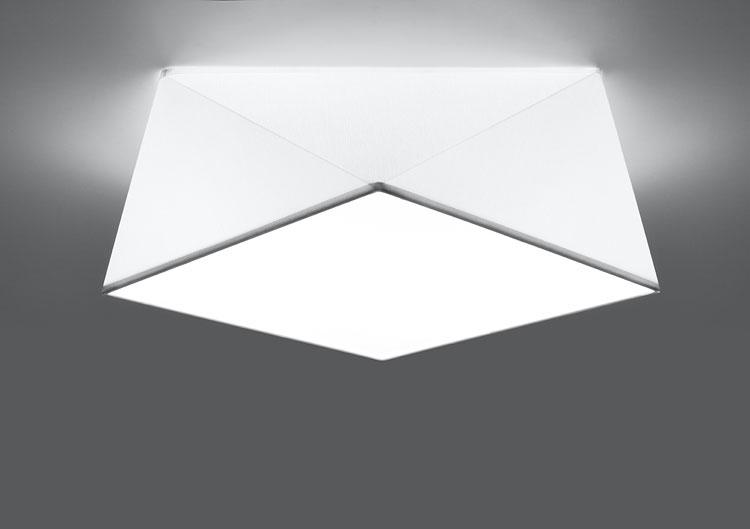 Biały geometryczny plafon EX590-Hexi