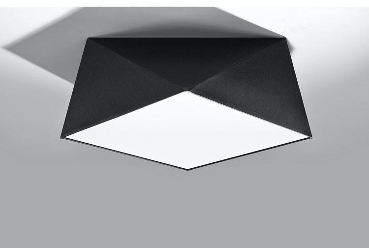 Czarny geometryczny plafon EX590-Hexi