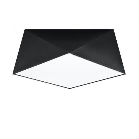 Czarny designerski plafon LED EX590-Hexi
