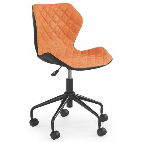 Zdjęcie produktu Dziecięcy fotel obrotowy Kartex - pomarańczowy.