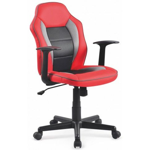 Zdjęcie produktu Młodzieżowy fotel obrotowy Nomer - czerwony.