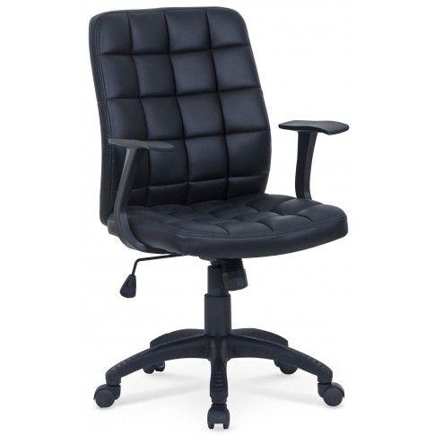 Zdjęcie produktu Pikowany fotel obrotowy Bitel - czarny.