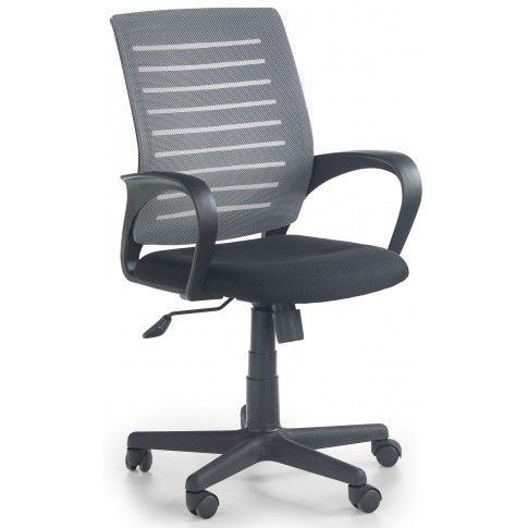 Zdjęcie produktu Fotel biurowy obrotowy Stuart - popielaty.
