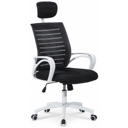 Zdjęcie produktu Fotel obrotowy z regulowanym zagłówkiem Virago - czarny.